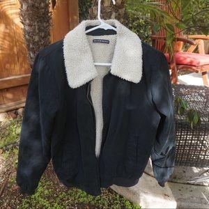 Brandy Melville Fleece Bomber Jacket